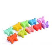 Nikgic 5Pcs Butterfly shape Mould Fondant Silicone Mould Handmade Soap Pudding Cake Mould (random colour)