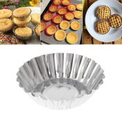 Jiamins 5 Pcs Cupcake Baking Mould Non-stick Tinplate Cake Moild Flower Cookie Tray
