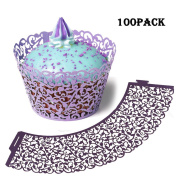 Cupcake Wrapper Vine Lace Cupcake Liner Wrapper Baking Cup Muffin Case Trays Décor Wedding Birthday Party Christmas Supplies 100pcs