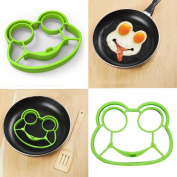 ALISIAM Silicone Cute Frog Shaped Fried Eggs Shaper Breakfast Kitchen Cooking Tool
