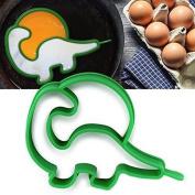 Fried Eggs Rings,ALISIAM Silicone Fried Egg Breakfast Dinosaur Egg Shaper Pancake Ring Mould