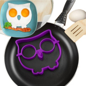 Fried Eggs Rings,ALISIAM Silicone Owl Shaped Fried Eggs Shaper Pancake Mould Mould Breakfast Kitchen Cooking Tool