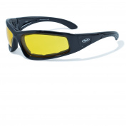 Global Vision Gloss Black Frame w/Foam Padding Yellow Lens SKU