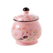 Japanese style ceramic seasoning jar,Household salt shaker Spice jar Kitchen spice box Shaker Seasoning box Sauce bottle-A