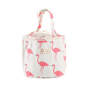 bismarckbeer Flamingo Printed Insulated Lunch Tote Picnic Bag Storage Lunch Bag