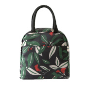 bismarckbeer Floral Insulated Lunch Tote Picnic Pouch Bag Storage Lunch Bag for Women
