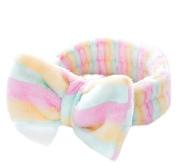 Chytaii Headband Hair Band Make Up Cosmetic Wash Face Spa Bath Shower Headband Soft Elastic Hair Wrap Band Towel Colourful Stripe