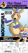 Art Impressions Mouthfuls Stamp & Die Set-Kangaroo