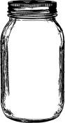 Darkroom Door Cling Stamp 11cm x 7.6cm -mason Jar