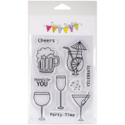Jane's Doodles Clear Stamps 10cm x 15cm -Cheers