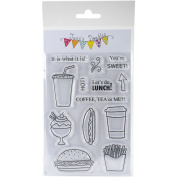 Jane's Doodles Clear Stamps 10cm x 15cm -Food On The Go