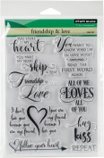 Penny Black Friendship & Love Clear Unmounted Rubber Stamp Set