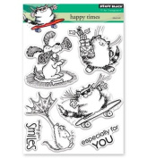 Penny Black Happy Times Clear Unmounted Rubber Stamp Set