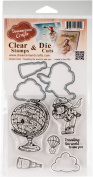 DreamerlandCrafts Clear Stamp & Die Set 10cm x 10cm -Travelling The World To See You