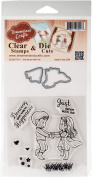 DreamerlandCrafts Clear Stamp & Die Set 10cm x 10cm -Just Dance With Me