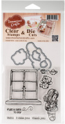 DreamerlandCrafts Clear Stamp & Die Set 10cm x 10cm -Just A Note To Say