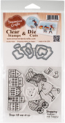 DreamerlandCrafts Clear Stamp & Die Set 10cm x 10cm -Shopping Makes Me Happy