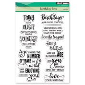 Penny Black Birthday Love Clear Unmounted Rubber Stamp Set