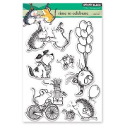 Penny Black Time to Celebrate Clear Unmounted Rubber Stamp Set