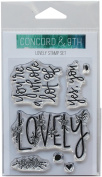 Concord & 9th Clear Stamps 7.6cm x 10cm -Lovely