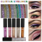 DRESS® 6 Pcs Metallic Laser Powder Shining Pearly Pearlescent Eye Shadow Smoky Eyes Eyeshadow Waterproof Glitter Liquid Eyeliner