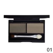 Mety Angel Brow Powder Eyebrow Shadow Kit Eye Brow Wax Palette Makeup + Eyebrow Brush
