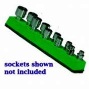 Mechanics Time Saver 486 1/4 in. Dr Univ Magnetic Green Socket Holder 5-14mm
