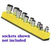 Mechanics Time Saver 483 1/4 in. Dr Univ Magnetic Yellow Socket Holder 5-14mm