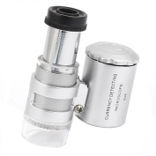 Unique Bargains Plastic Casing Dual LED Lights Currency Detecting Magnifier Loupe Microscope 60X
