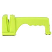 Household Kitchen Plastic Handle Ceramic Cutter Sharpening Stone Light Green