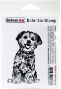 Darkroom Door Cling Stamp 7.6cm x 5.1cm -Sitting Dog