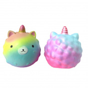 VWH Colourful Unicorn Squishies Toy Slow Rising Relieves Stress Soft Toy Children Adult Toys Gift
