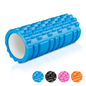 Enkeeo Foam Roller 33cm X 15cm EVA with Grid Design Muscle Rollers for Deep Tissue Myofascial Release Sports Massage and Recovery Trigger Point Therapy Pilates Yoga Physical Exercise Pain Relief