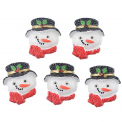 10 Pcs Christmas Snowman Patches Appliques DIY Christmas Decorative Patches