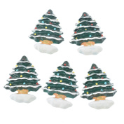 10 Pcs Green Christmas Tree Patches Appliques DIY Christmas Decorative Patches
