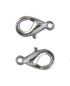 Lot of 40 Snap Clasps 10x6 mm Light Silver-Plated Metal