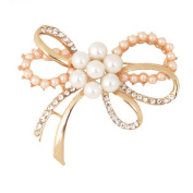 Lumanuby 1 Pcs Brooch Elegant Fashion Brooch Pin Butterfly Design For Wedding Alloy Shawl Clip Lover Christmas Gift Gold Colour