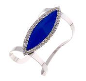 LX Metal resin diamond bracelet open personality , blue