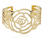 LX Hollow metallic Rose Bracelet , gold