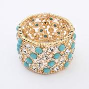 LX All-match fashion exquisite diamond bracelet , blue c-1311