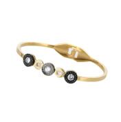 LX Diamond opening stainless steel bracelet bracelet , gold
