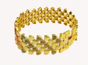 LX Gold bracelet bracelet men wide 24K gold plated jewellery , golden