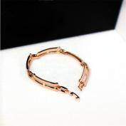 LX Exquisite diamond gold bracelet smooth , golden