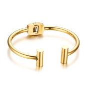 Caiyan Open Gold Stainless Steel Bracelets for Women