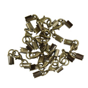 Baosity 12pcs Brass Lobster Clasp Converter For Necklaces Bracelets with 9x5mm Leather Cord Crimp