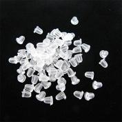 J*myi 1000 Plastic Earring Nuts / Backs / Butterflies 4mm