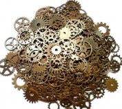 Outflower 100 Steampunk Cyberpunk Watch Parts Vintage Gears Wheels Cogs Jewellery Making DIY Crafts