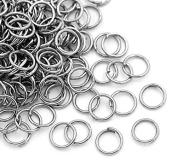100 Jump Rings Open 5mm x 0.6mm (22 Gauge) Antique Silver Tone Findings J00172