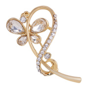 Cdet Brooch Butterfly Fashion Diamond Hollow Brooch Pin for Wedding Alloy Shawl Clip Lover Christmas Gift Golden