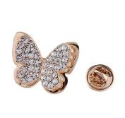 Cdet Brooch Pin Lovely Butterfly Alloy Brooch for Wedding Brooch Shawl Clip Christmas Gift Golden